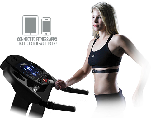 Treadmill with Bluetooth Heart Rate Monitor