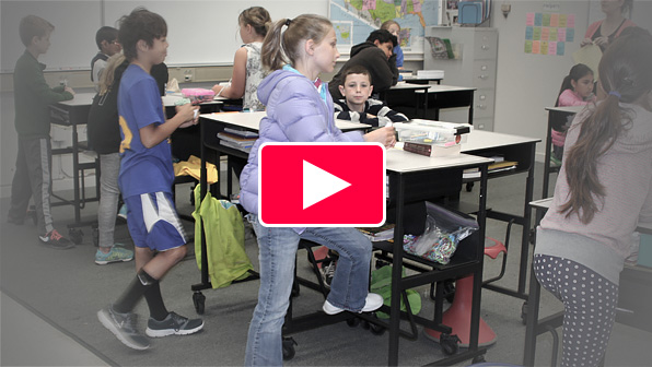 Worlds first - standing desk at schools