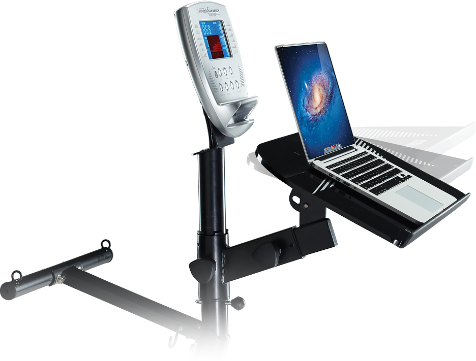 Fully adjustable work station and exercise bike