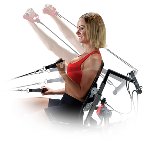 Use resistance bands while cycling on a exercise bike