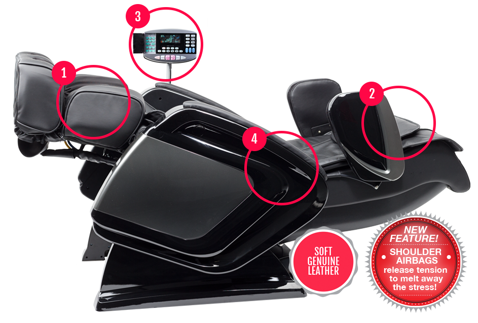 The ultimate in massage chair features