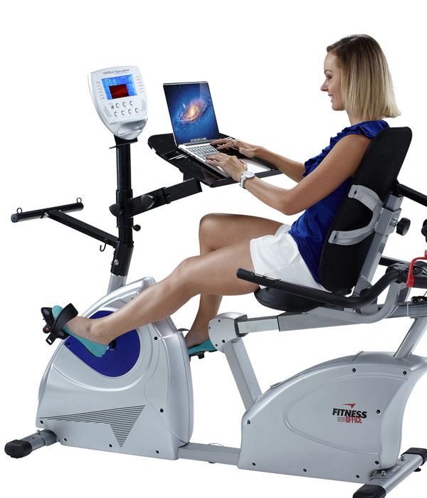 Recumbent Exercise bike with Desk