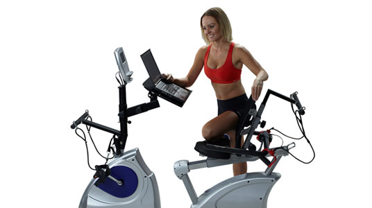 exercise bike work desk