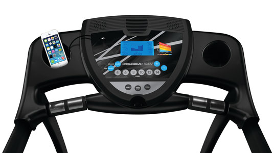 The nighttrain treadmill console