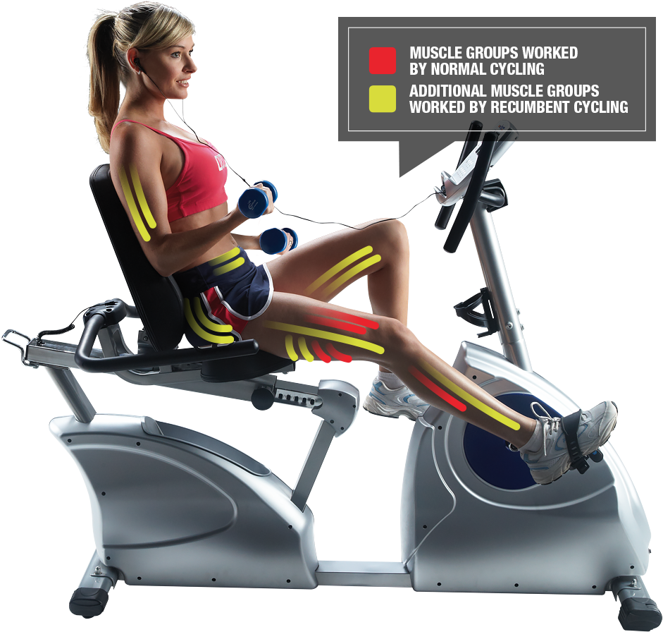 Sculpt your butt on a recumbent exercise bike